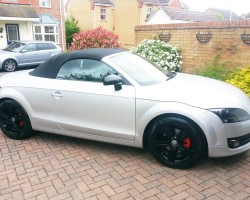 audi wheels and caliper referbished and and sprayed