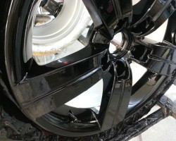 audi alloy wheel sprayed back and ready to refit