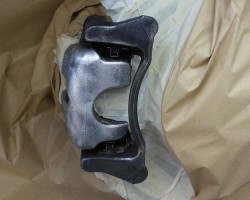 Audi break calliper before spraying