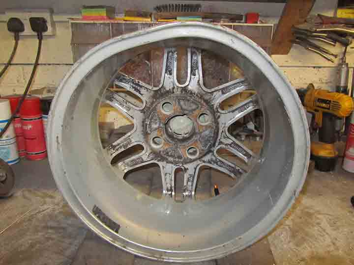 out of shape alloy wheel